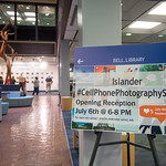 The Second Islander Cell Phone Photography Show is now up for viewing in the Mary and Jell Bell Library until September 15th.