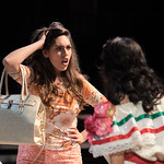 Cast members rehearse for the upcoming production of De Donde