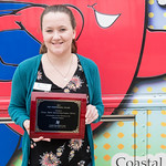 Events Coordinator, Katheryn Paynter, received recognition in top collection in the education catagory from the Coasta Bend Blood Center.
