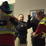 Police hugging photo