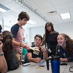 STEM Camp participants work collaboratively on their underwater robotics design.  To learn more about our STEM summer camps, click here: http://sci.tamucc.edu/ENGR/stemsi/